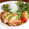 料理メニュー写真皮目パリパリ鶏モモ焼き おろし柚子ポン酢