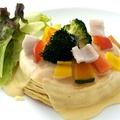 料理メニュー写真チーズフォンデュパンケーキ(3枚)