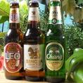 タイにこだわらず、アジア各国のビールを豊富にご用意しております!!