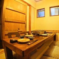 4~6名様用完全個室/40名までOKの大座敷席