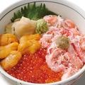 料理メニュー写真魚萬三種丼