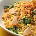 料理メニュー写真豚バラ青菜炒飯 、豚バラネギ塩炒飯