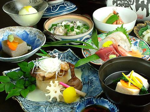 季節の食材を使った創作和食のコースをご用意しています!!