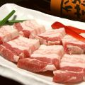 料理メニュー写真【食べ放題コースより】鹿児島産黒豚カルビ/豚ハラミ