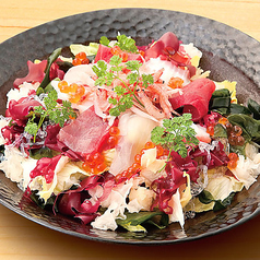 日本海名物 海鮮サラダ (柚子胡椒ドレ)