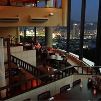 大パノラマの窓から夜景