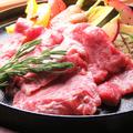 料理メニュー写真金印オリーブ牛の霜降りグリルステーキ