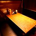 座敷、テーブル、掘りごたつなど様々な席タイプをご用意。気の合う仲間とゆっくりおいしい時間を♪