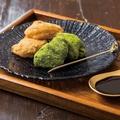 料理メニュー写真わらびもち「きな粉と抹茶」