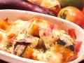 料理メニュー写真かぼちゃとベーコンのマヨチーズ焼き