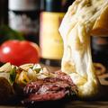料理メニュー写真本格派フランスサヴォワラクレット~牛ハラミのステーキプレート~