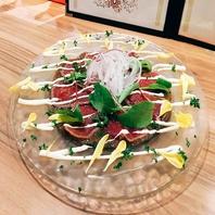 牛タタキのカルパッチョ(税込800円)