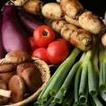 信頼の農家様から毎朝仕入れる旬な新鮮野菜♪毎日仕入れる野菜は新鮮で甘く、当店の料理との相性抜群!もちろん食感も存分に愉しむことができます。