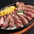 料理メニュー写真綱焼きステーキ200g (和風ソースorテリヤキソース)