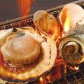 料理メニュー写真貝焼き3種盛り合わせ