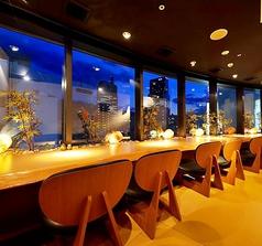 仙台中心部の夜景をお楽しみいただけるカップルシート♪大人のデートに最適!