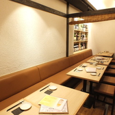 仕切りのついたテーブル個室は最大16名様までご利用可能。(ご利用人数によっては半個室でのご利用になる場合がございます)大人数ので宴会や接待でご利用になられてはいかがでしょうか?