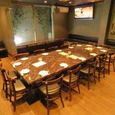 14名様レイアウト一例★1つのテーブルを囲んでワイワイ飲みたい時におすすめ!テーブルを広く使えるのことが好評!お席レイアウトのご相談は店舗までお気軽にご相談ください!