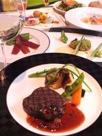 宮崎の食材をふんだんに使用した種類豊富なコース!