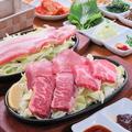 料理メニュー写真焼き肉(おまかせ3種盛り)