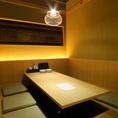 【2階】6名様用の完全個室。こだわりの内装でゆったりとお食事をお楽しみください。人気のお席なのでお早めにご予約下さい。