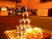 パーティーも盛り上がるシャンパンタワー!