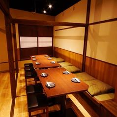 モダンな雰囲気の個室でゆっくりとお過ごしいただけます。