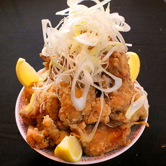 料理メニュー写真【バカ】若鶏の唐揚げ(醤油ダレ・辛ダレ・ハーフ)