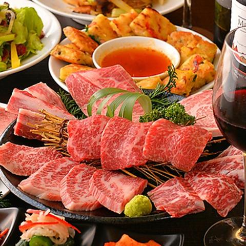 換気抜群で安心!韓国本場の15老舗有名店の絶品料理が楽しめる♪ A4・A5黒毛和牛焼肉!