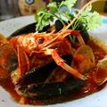 料理メニュー写真ペスカトーレ(魚介のトマトソースパスタ)