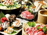 博多名物もつ鍋とお勧め刺盛のコース