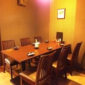 中人数でも利用できるテーブル席 個室