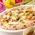 高温で焼き上げたピザはもっちもち♪