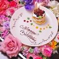 料理メニュー写真【誕生日】誕生日のお客様にパンケーキタワープレゼント