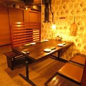 4名席用の広々テーブル席。
