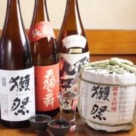 中々出会えない日本酒・焼酎を豊富に取り揃えてます♪