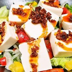 豆腐のサクサクガーリックサラダ