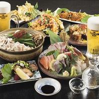 3H飲み放題付10品(ビール含む)¥5,000円