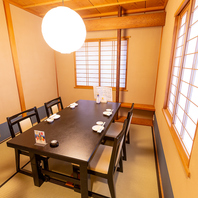 ◆安心安全完全個室◆人数に合わせた和個室空間