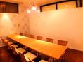個室をカーテンで仕切って、半個室として10名様ずつのお部屋としてのご利用もOK!