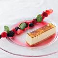 料理メニュー写真濃厚!北海道チーズケーキ バスク風