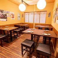 ◆テーブル席もご用意◆気軽にご来店頂ける店内