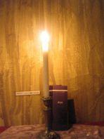 蝋燭の光が…