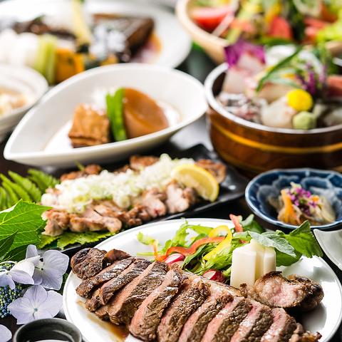 【2時間2,200円全125種類食べ放題】お刺身,ユッケ,お鍋,前菜,サラダなど