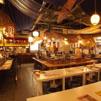 駅チカで楽しめるお手軽タイ料理、屋台風の店内も好評
