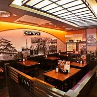 名古屋の雰囲気を楽しむ!お座敷完全個室も完備。