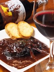 牛タンの赤ワイン煮込み
