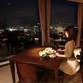 禁煙席窓際テーブル(夜景)