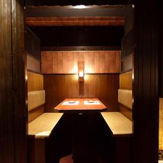 完全個室も完備。大人の雰囲気漂う上質な空間が自慢です。※系列店との併設店舗です。