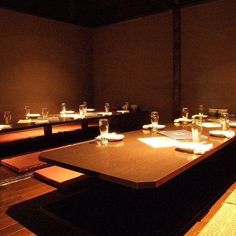9名様~12名様用のゆったり個室。会社宴会、合コンなどに幅広くお使い頂けます。